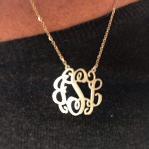 "Jewelry - 925 Sterling Silver ""JSL""  Monogram Necklace"